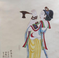 供養菩薩 Mr. WONG Kam Luen  2019  33 x 63.5 cm