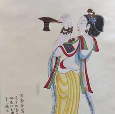 供養菩薩 黃錦綸 2019 33 x 63.5 cm