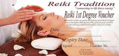 Accredited Qualification Reiki 1st Degree Course Voucher