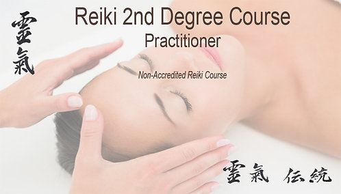 Reiki 2nd degree 20% deposit. Course 1st 2nd May 2021