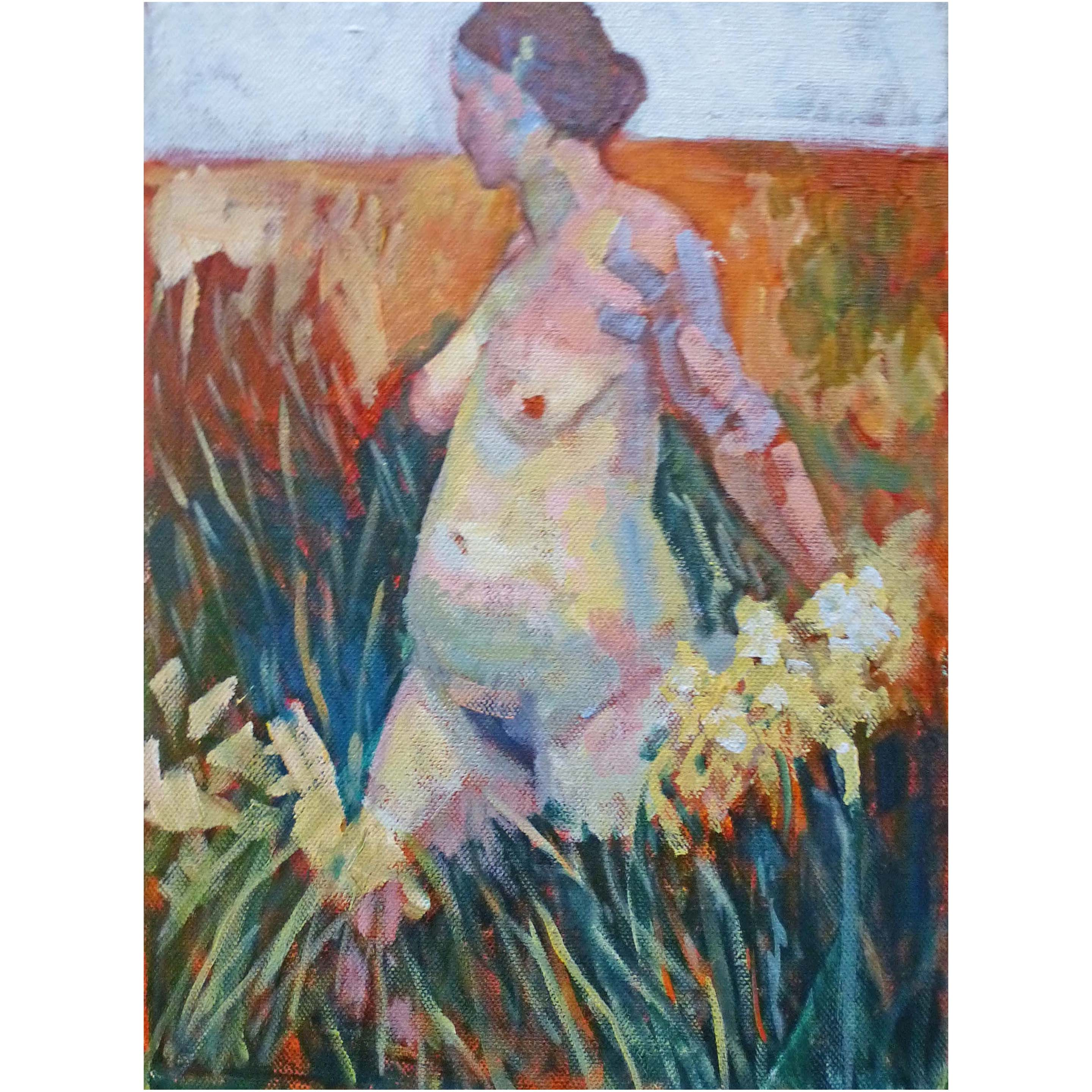 Girl in the field.Sold