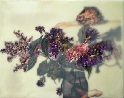 Purple Flora in a Vase sold