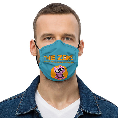 Mask The Zone blue logo orange
