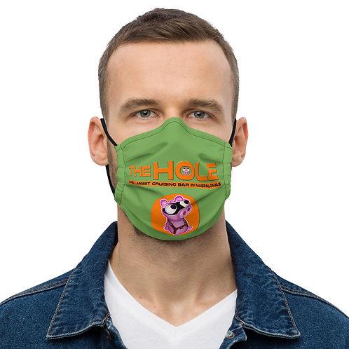 Mask The Hole Green Logo Orange