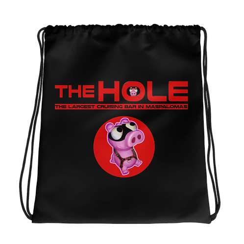 Drawstring bag logo red