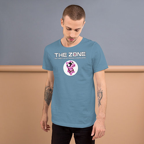 T-shirt blue logo white