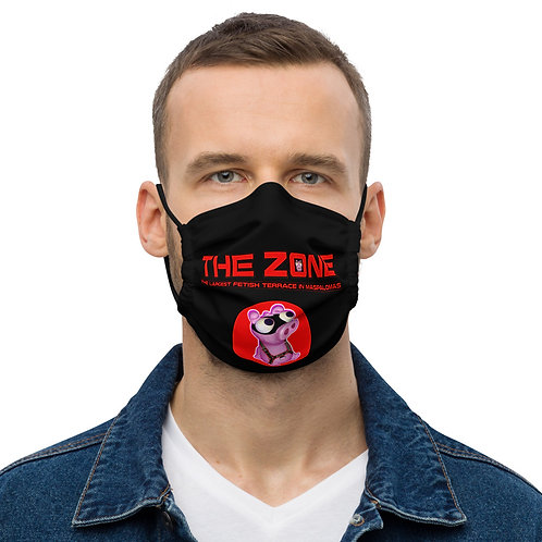Mask The Zone black logo red