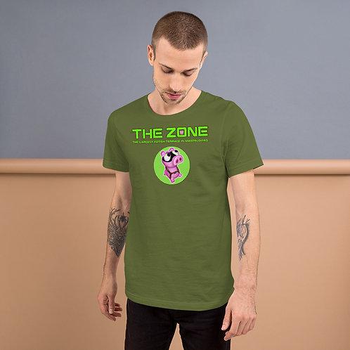 T-Shirt olivfarbenes Logo grün