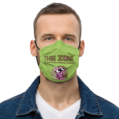 Mask The Zone green logo camo brown