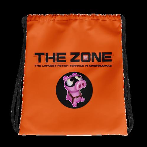 Drawstring bag The Zone orange logo black