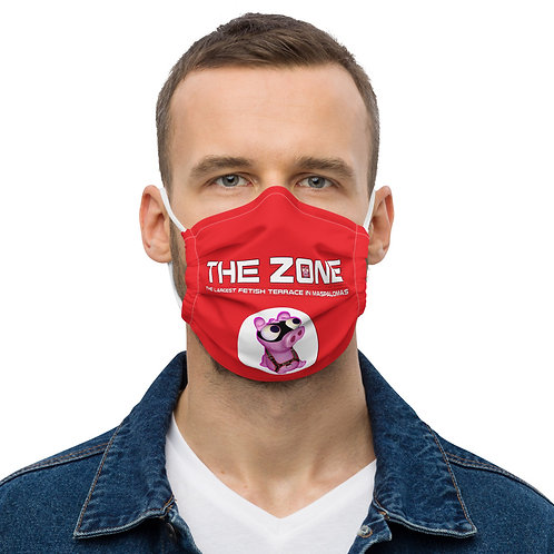 Mask The Zone red logo white