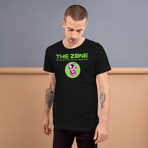 T-Shirt schwarzes Logo grün