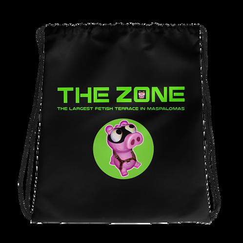 Drawstring bag The Zone black logo green