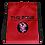 Thumbnail: Drawstring bag The Zone red logo black