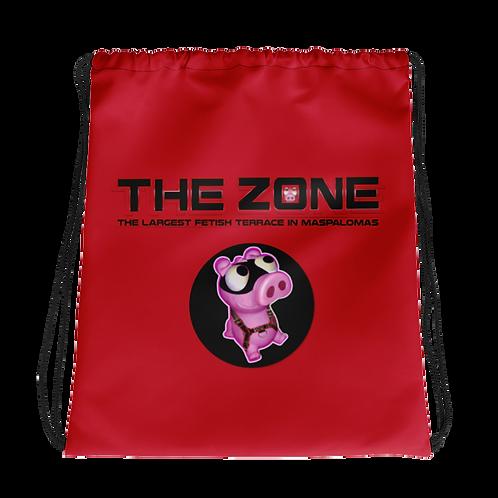 Drawstring bag The Zone red logo black