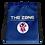 Thumbnail: Drawstring bag The Zone blue logo white