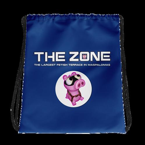 Drawstring bag The Zone blue logo white