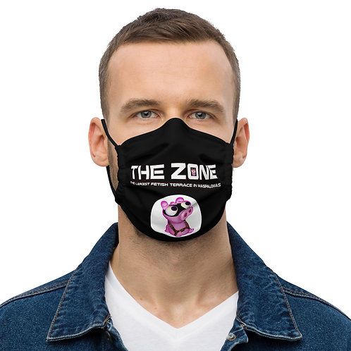 Mask The Zone black logo white
