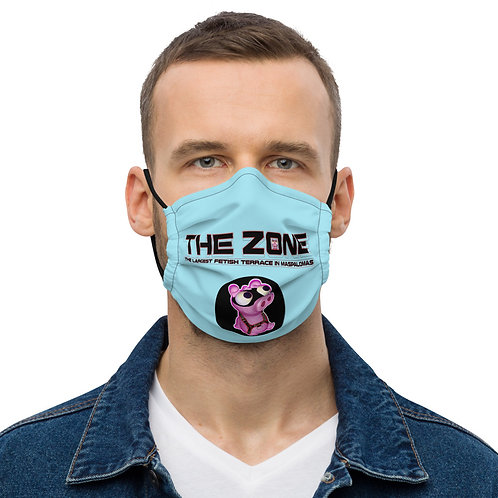 Mask The Zone light blue logo black