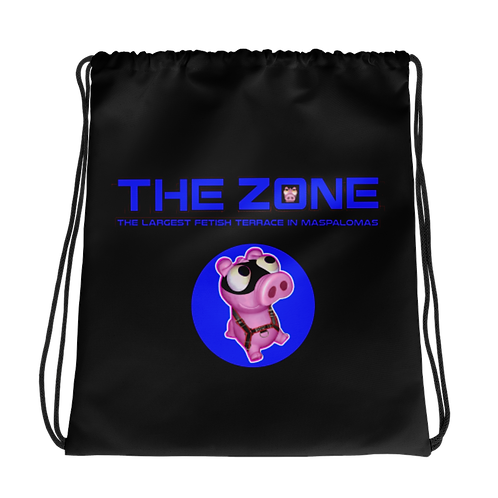 Kordelzug The Zone schwarz Logo blau
