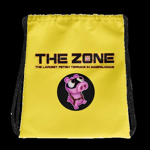 Kordelzug Tasche Das Zone gelbe Logo schwarz
