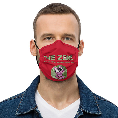 Mask The Zone red logo camo green