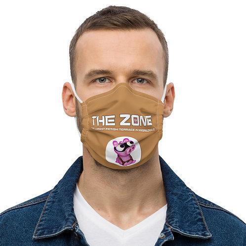 Mask The Zone caramel logo white