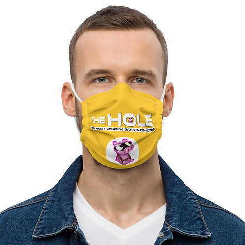 Mask The Hole yellow logo white