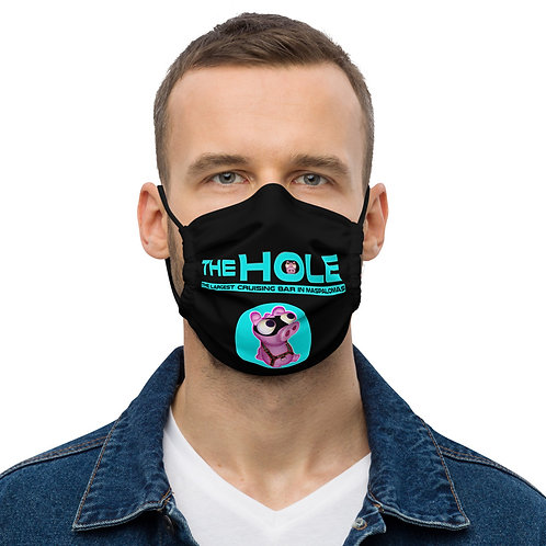 Mask The Hole black logo turquoise