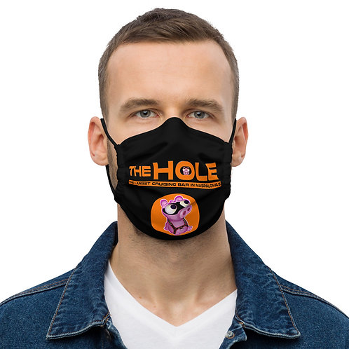 Mask The Hole black logo orange