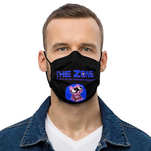 Mask The Zone black logo blue