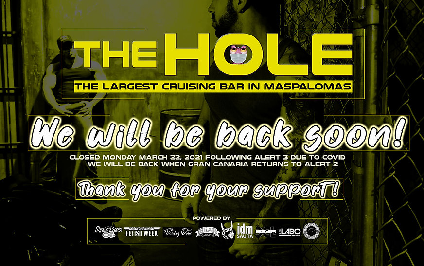 flyer The Hole closing we will be back s