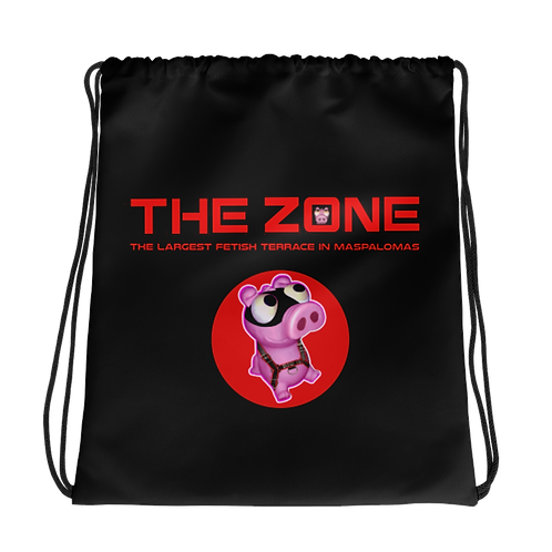 Drawstring bag The Zone black logo red
