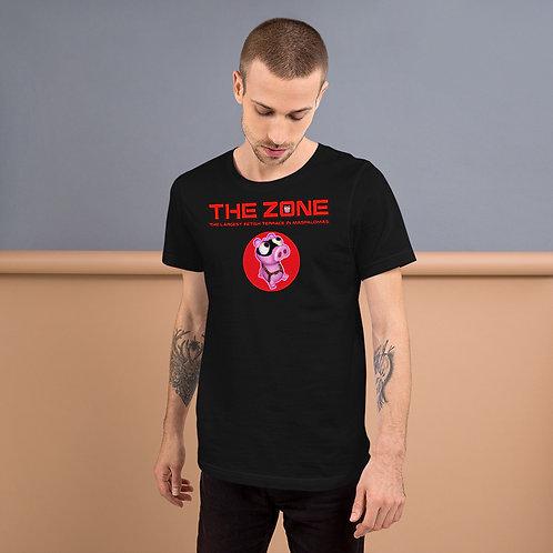 T-shirt black logo red