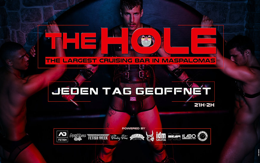 flyer The Hole red june 2021 website ger