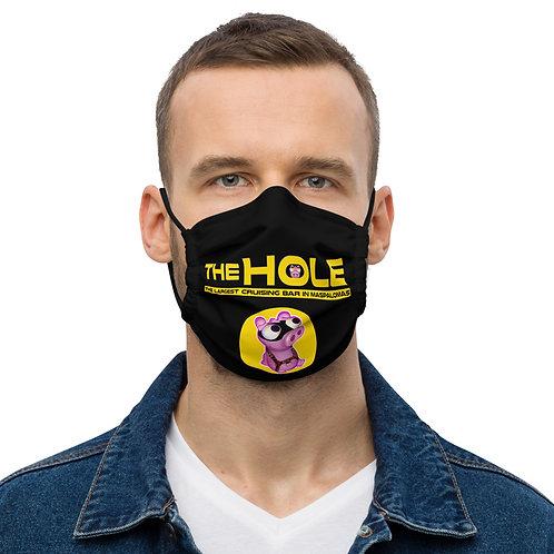 Mask The Hole Black logo yellow