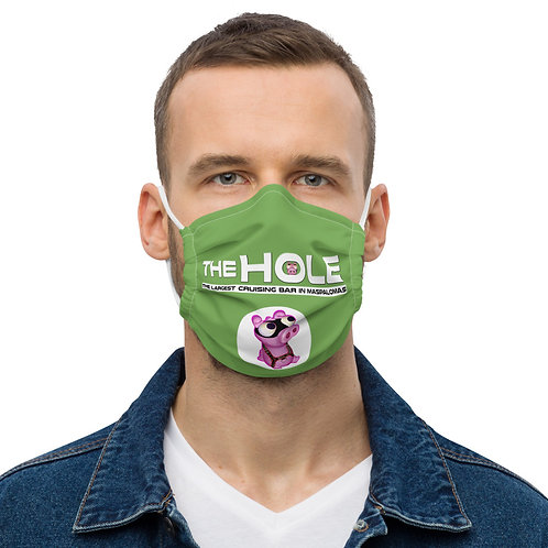 Mask The Hole green logo white