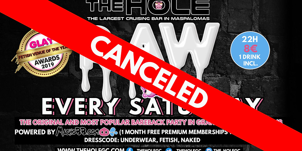 RAW BAREBACK PARTY CANCELED DUE TO COVID-19
