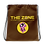 Thumbnail: Drawstring bag The Zone brown logo yellow