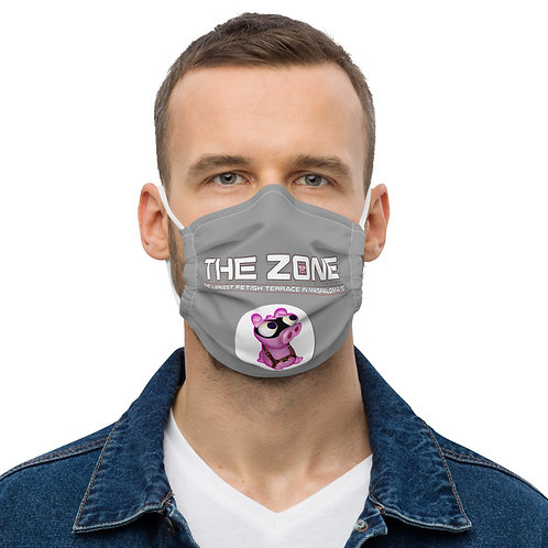 Mask The Zone grey logo white