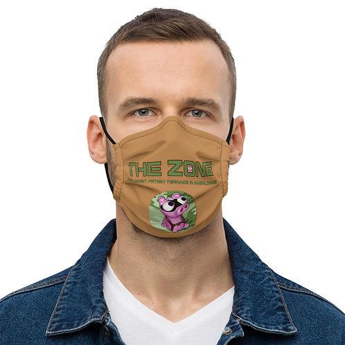 Maske Das braune Logo der Zone in Camo-Grün
