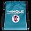 Thumbnail: Drawstring bag turquoise logo white