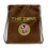 Thumbnail: Kordelzugtasche The Zone braunes Logo Camo