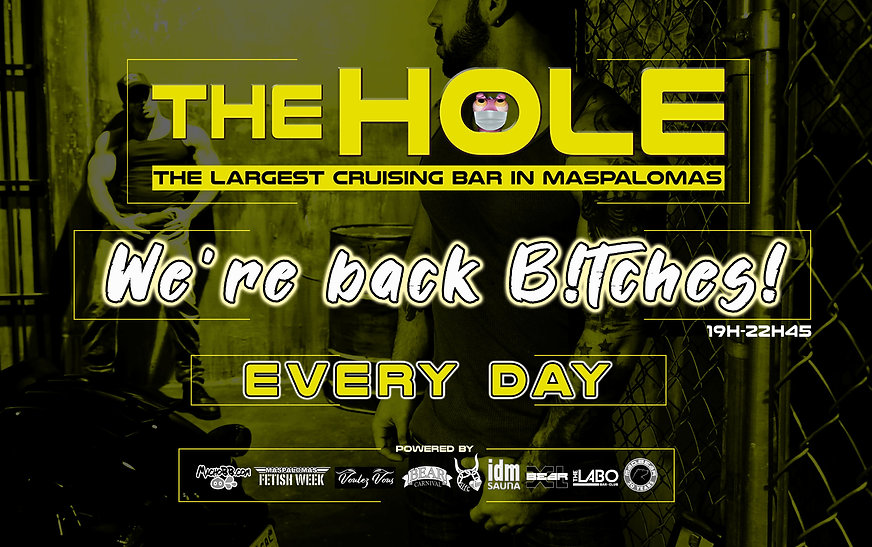 flyer The Hole we are back bitches engli
