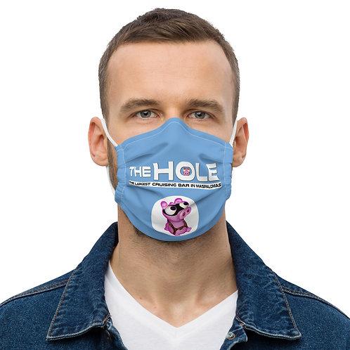 Mask The Hole blue logo white