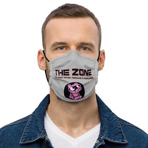 Mask The Zone grey logo black