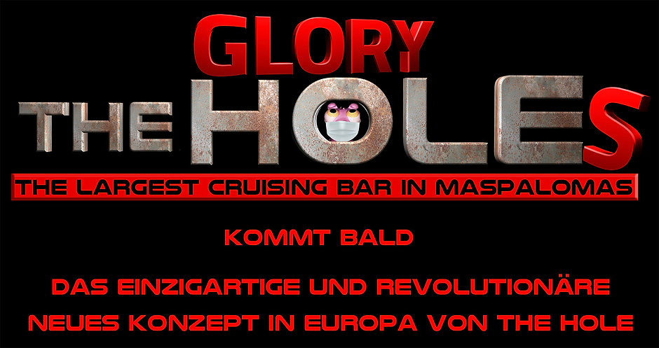 Logo The Glory Holes white new Red backg