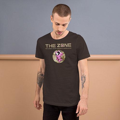 T-Shirt braunes Logo camo braun
