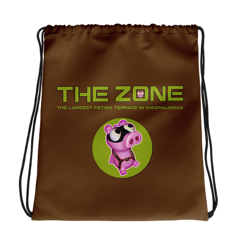 Drawstring bag The Zone brown logo camo
