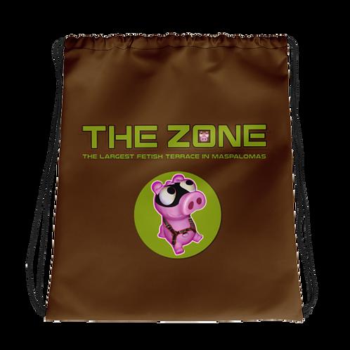 Kordelzugtasche The Zone braunes Logo Camo